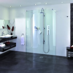 Aqata SP395 Spectra Curved Walk-In Shower Enclosure