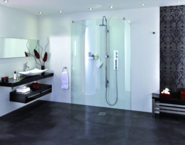 Aqata SP395 Spectra Curved Walk-In Shower Enclosure