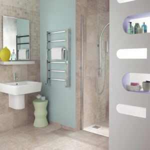 Bisque Gio Radiator Towel Rail