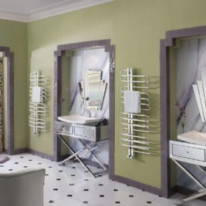 Bisque Orbit Radiator Towel Rail