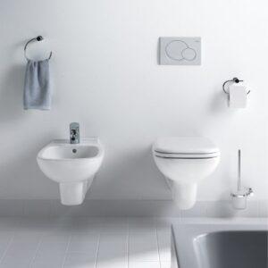 Duravit D-Code Wall-Mounted Toilet & Bidet