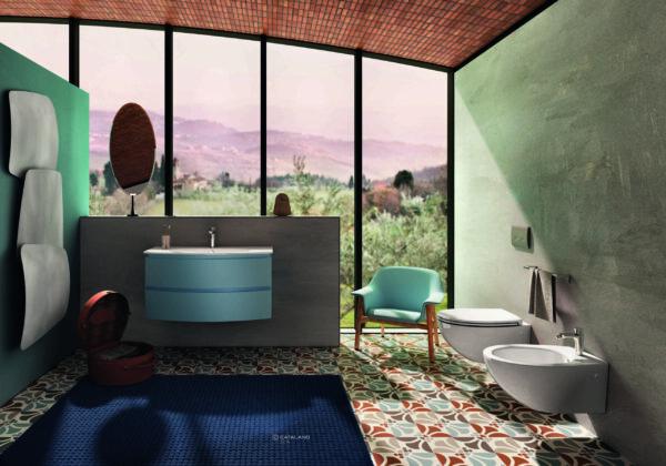 Catalano Velis Washbasin and Vanity Unit