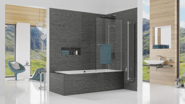 Kudos Inspire Outswing 2-Fold Bathscreen
