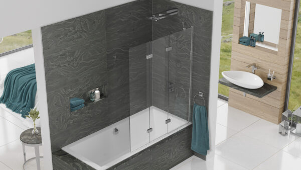 Kudos Inspire 3-Panel Infold Bathscreen