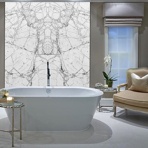 Porcel Thin Bianco Book Match Tiles