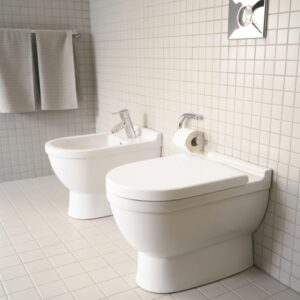 Duravit Starck 3 Back-to-Wall WC and Bidet