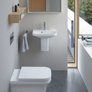 Duravit P3 Comforts Back-to-Wall WC and Bidet