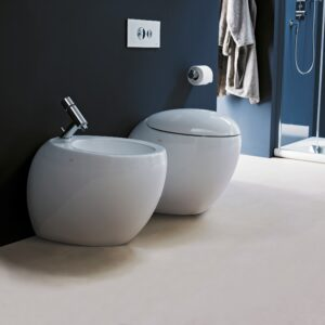 Laufen Alessi Back-to-Wall WC and Bidet