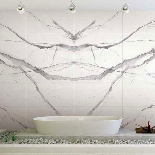 Porcel Thin Calacatta Marble Book Match Tiles