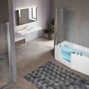 Novellini Iris Shower Bath with Door