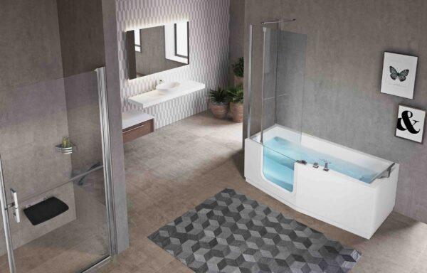 Novellini Iris Shower Bath with Door