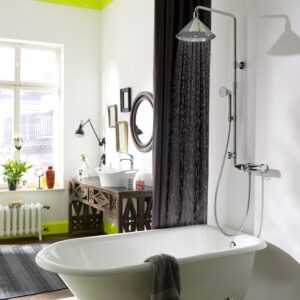 Axor Front Shower with Showerpipe and Thermostatic Mixer